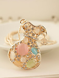 cheap -Women's Luxury Synthetic Opal Pendant Necklace / Chain Necklace - Luxury / Fashion White / Rainbow Necklace For Daily / Casual / Luxury