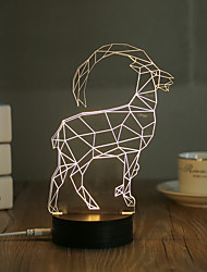 cheap -1 Set, Popular Home Acrylic 3D Night Light LED Table Lamp USB Mood Lamp Gifts, Antelope