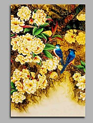 cheap -Hand-Painted Vintage Vertical, Artistic Nature Inspired Birthday Modern/Contemporary Office/Business Pastoral Christmas New Year's Canvas