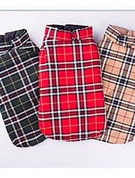 Chien Manteaux Vêtements pour Chien Chaud Décontracté / Quotidien Formes Géométriques Beige Rouge Vert Costume Pour les animaux