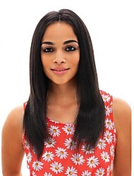 cheap -Remy Lace Wig Yaki Straight With Baby Hair Lace Front 360 Frontal Glueless Lace Front 100% Hand Tied Natural Hairline 150% 180% Density