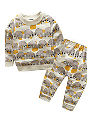 Baby Kids' Casual/Daily Animal Clothing Set Autumn/Fall