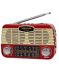abordables -RF-382BT FM AM Radio portable Bluetooth Torche Lecteur MP3 Carte SDWorld ReceiverNoir Gris Rouge