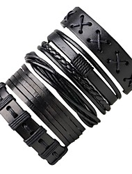 cheap -Men's Leather Bracelet Wrap Bracelet Punk Adjustable Leather Round Jewelry For Going out Street