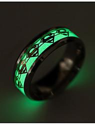 billige -Herre Band Ring - Titanium Stål Mode 6 / 7 / 8 Guld / Sølv Til Daglig