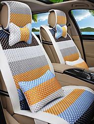 baratos -cartoon arco-íris de couro seda material assento de carro almofada assento tampa assento quatro estações geral tudo em torno de 2 #