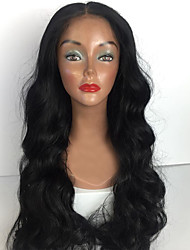 cheap -Human Hair Full Lace Wig Brazilian Hair Wavy Wig Layered Haircut / With Baby Hair 130% Middle Part Bob / Natural Hairline / For Black Women Women's Short / Medium Length / Long Human Hair Lace Wig