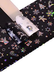 preiswerte -1 Glitzer Muster Zubehör Art déco/Retro 3D Nagel Sticker Aufkleber Bastelmaterial 3-D Modisch Alltag Gute Qualität