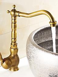 Antique Vasque Rotatif Soupape céramique Laiton Antique , Robinet de Cuisine