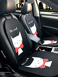 cheap -Miss Kitty Cartoon Car Seat Cushion Seat Cover Seat Four Seasons General Surrounded By A Five Seat Headrest With 2 Wheel Sets