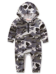 cheap -Baby Boys Camouflage One-Pieces,Cotton Polyester Spring/Fall Summer Dresswear Long Sleeve Gray