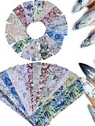 16 Autocollant d'art de clou Paillettes Motif Accessoires Traditionnel/Classique 3D Produits DIY Pièces & Accessoires Autocollant
