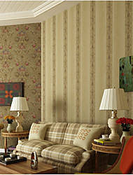 Print Wallpaper For Home Traditional/Classic Wall Covering , Pure Paper Material Adhesive required Wallpaper , Room Wallcovering