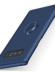 preiswerte -Hülle Für Samsung Galaxy Note 8 Note 5 Ring - Haltevorrichtung Mattiert Rückseitenabdeckung Volltonfarbe Hart PC für Note 8 Note 5 Note 4