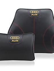 Automobile Kits de coussin de repose-tête et de taille Pour Audi Toutes les Années Tous les modèles Coussins de Voiture Cuir