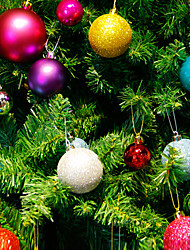 cheap -24Pcs/Set 4Cm Modern Christmas Tree Ball Baubles Xmas Party Wedding Hanging Ornament Christmas Decoration Supplies