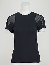 preiswerte -Laufshirt T-shirt Oberteile für Yoga Übung & Fitness Laufen Modal Polyester Schlank S M L XL