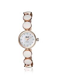 Women's Dress Watch Wrist watch Simulated Diamond Watch Japanese Quartz Imitation Diamond Alloy Band Charm Elegant Casual Black White