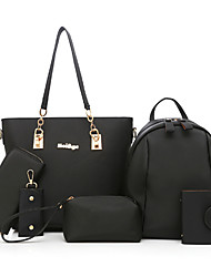preiswerte -Damen Taschen Polyester Bag Set Niete für Ganzjährig Blau Weiß Schwarz Purpur Fuchsia