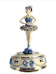 abordables -Boîte à musique Jouets Danse Carrousel Résine Pièces Unisexe Anniversaire La Saint Valentin Cadeau