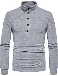 cheap -Men's Daily Regular Pullover,Solid V Neck Long Sleeves Cotton Winter Fall Medium Micro-elastic