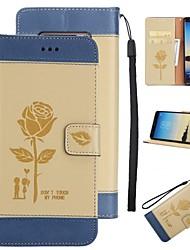 für Fallabdeckungs-Kartenhaltermappe mit Standplatz-Flipmuster Ganzkörper-Kastenblume hartes PU-Leder für Samsung-Galaxieanmerkung 8