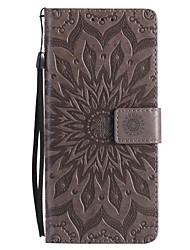 Недорогие -Кейс для Назначение SSamsung Galaxy Note 8 Note 5 Бумажник для карт Кошелек со стендом Флип С узором Чехол Мандала Твердый Кожа PU для