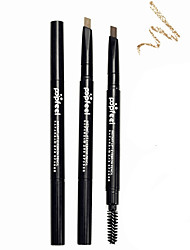cheap -Popfeel 2in1 Double End Rotary Long Lasting Waterproof Eyebrow Pencil Eye Brow Liner Pen with Brush
