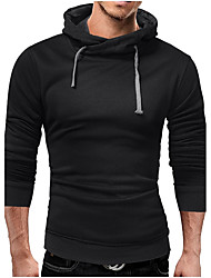 cheap -Men's Plus Size Sports Running Casual Street chic Hoodie Solid Hooded Micro-elastic Cotton Long Sleeve Winter Fall