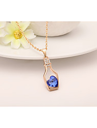 cheap -Women's Geometric Classic Fashion Pendant Necklace Alloy Pendant Necklace , Wedding Gift