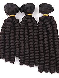 billige -Fletning af hår Bouncy Curl / Spiral Curl Krøllede fletninger 100% kanekalon hår / Kanelkalon 3pcs / pakke Hårfletninger Medium Længde Jamaican bounce hår