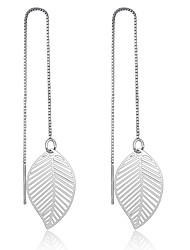 cheap -Women's Earrings Set Basic Sterling Silver Leaf Jewelry For Party