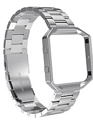 cheap -Fitbit Blaze Bands with Metal FrameAustrake Stainless Steel Replacement Bands with Frame for Fitbit Blaze Smart Fitness Watch for Women Men-silver