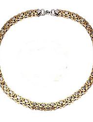Pánské Řetízky Šperky Geometric Shape Titanová ocel Retro Šperky Pro Denní
