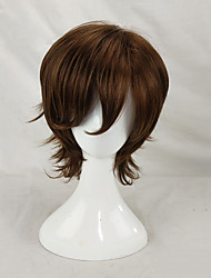 cheap -Men Synthetic Wig Capless Short Curly Brown Layered Haircut Cosplay Wigs Costume Wig