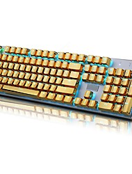 E-Element 104 PBT Double Shot Injection Backlit Golden Metal Color Keycaps for all Mechanical Keyboards with Key Puller