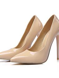 preiswerte -Damen Schuhe Leder Frühling Herbst Komfort Neuheit High Heels Spitze Zehe für Hochzeit Party & Festivität Schwarz Gelb Rot Rosa