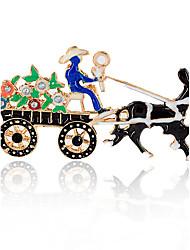 Недорогие -Синтетический алмаз Броши - Лошадь Брошь чёрный / Синий Назначение Рождество / Подарок