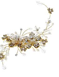Imitação de Pérola Strass Liga Flores Chapéus Clip para o Cabelo Capacete