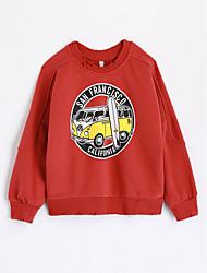 cheap -Boys' Print Blouse,Cotton Fall Long Sleeve Cartoon Red