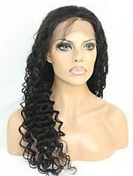 Women Human Hair Lace Wig Remy Glueless Lace Front 130% Density With Baby Hair Wavy Wig Black Short Medium Long