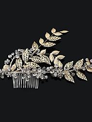 economico -pettini di cristallo della lega del rhinestone dei capelli pettini stile elegante del copricapo dei fiori