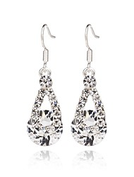 Women's Hoop Earrings Jewelry Fashion Zircon Alloy Pear Jewelry For Wedding Party Halloween Daily Casual
