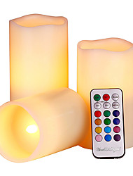 cheap -1set Candle Light Multi Color Battery Remote Controlled Color-Changing Decorative