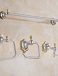 Towel Bar Towel Ring Toilet Paper Holder Robe Hook Modern Style Stainless Steel 60*25*25 Towel Bar Towel Ring Toilet Paper Holder Robe