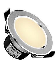 Delixi® 1pc 5w levou downlight celing luz quente branco / branco ac220v tamanho furo 90mm 300lm 3000 / 6000k ângulo do feixe 120