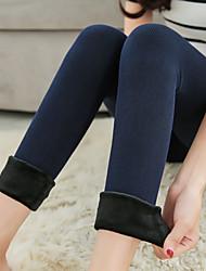 cheap -Women's Medium Solid Color Legging, Solid Black