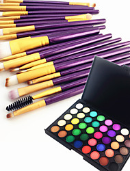 cheap -40 Color Eyeshadow Eyebrow Powder Cosmetic Palette & 20 Eyeshadow Eyebrow Makeup Brush Set