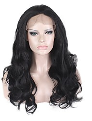 cheap -Women Synthetic Wig Lace Front Long Body Wave Black For Black Women Natural Hairline Silk Base Hair Party Wig Cosplay Wigs Natural Wig