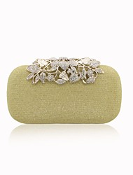 Women Bags All Seasons PU Evening Bag Beading Flower(s) Pockets for Event/Party Outdoor Gold Silver